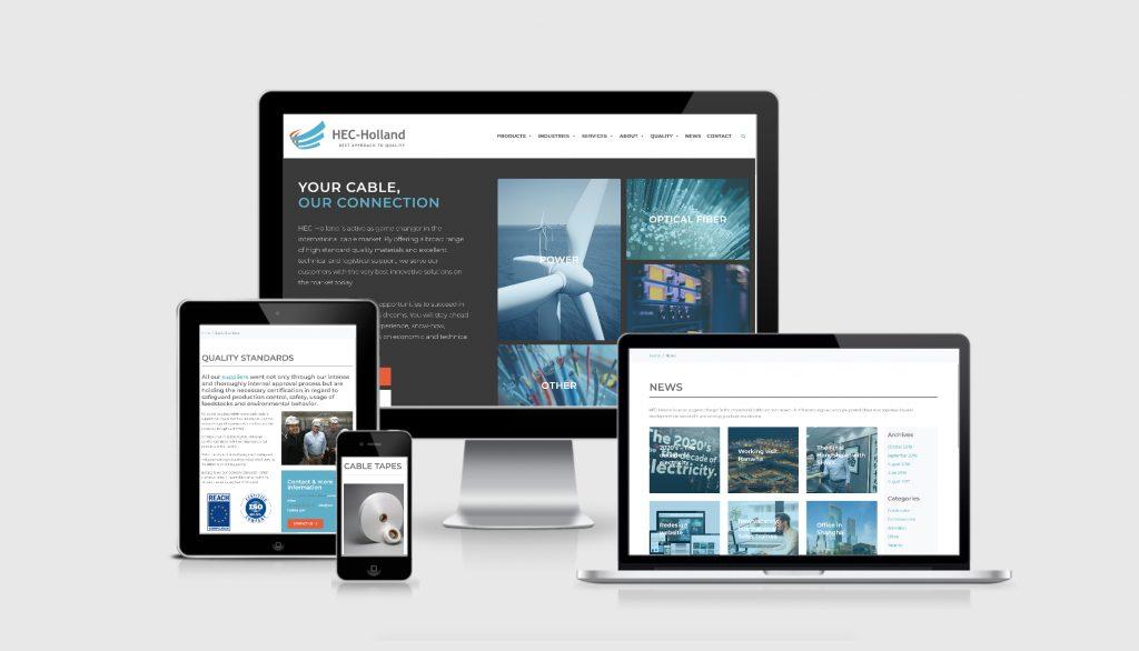 Redesign website HEC Holland BV