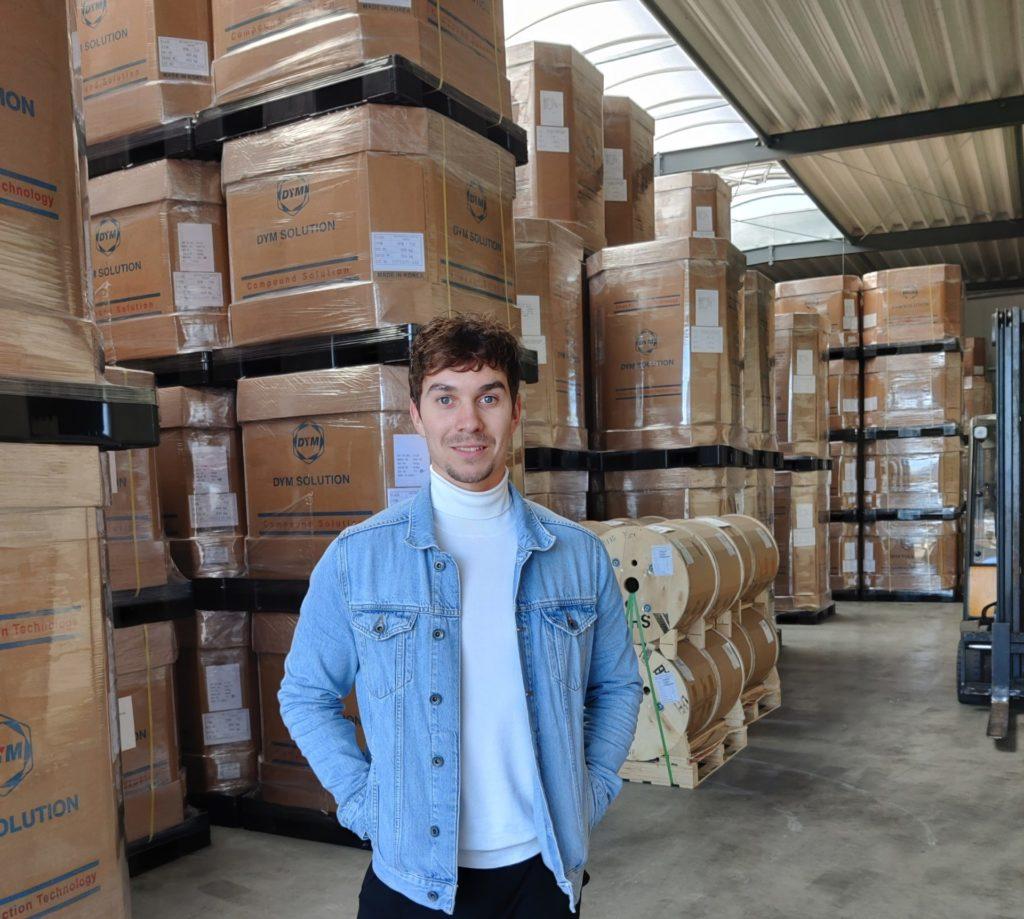 Bob Bakker in our warehouse in Goch
